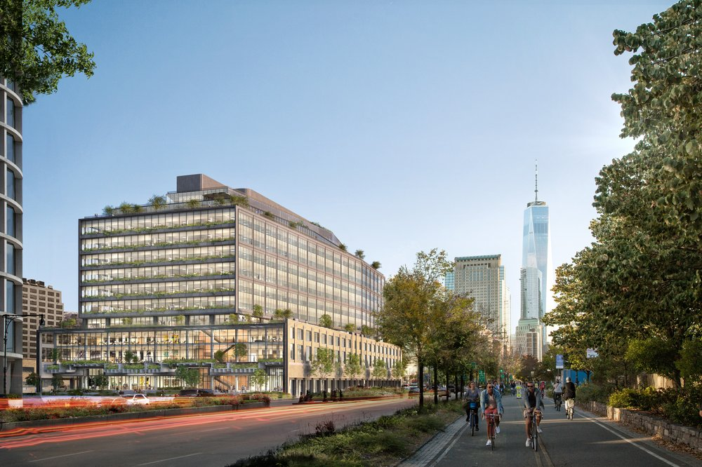A rendering of Google's Hudson Square campus.