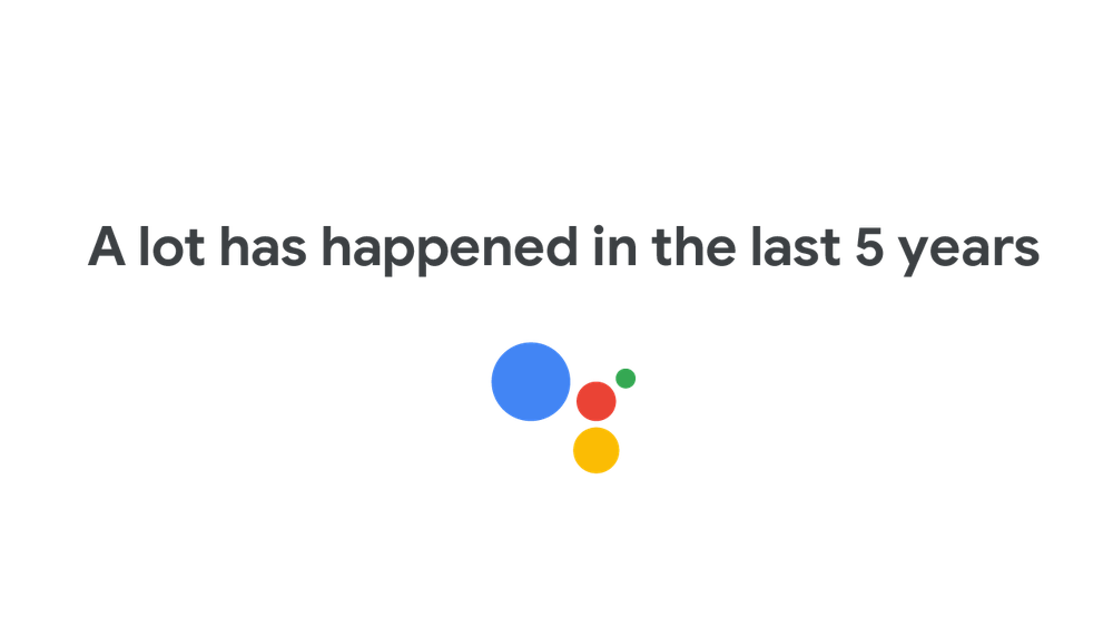 Video celebrating 5 years of Google Assistant