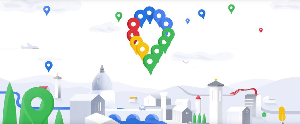 Maps Symbol aus Luftballons