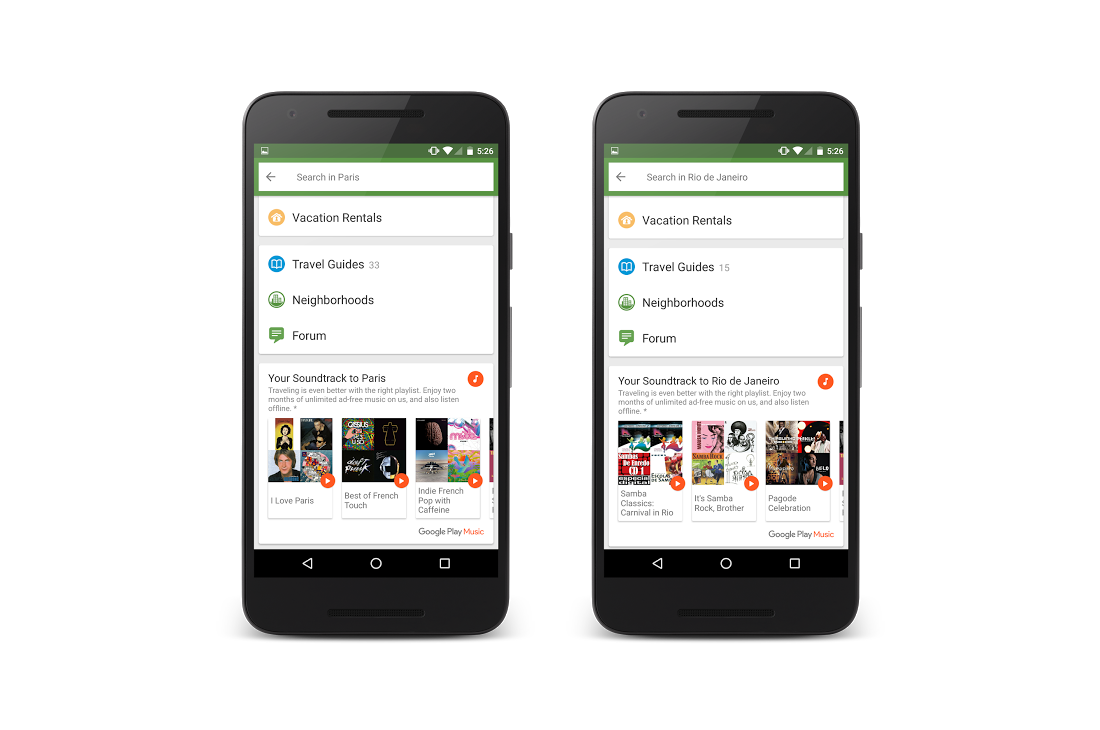 Travel with Google Play Music