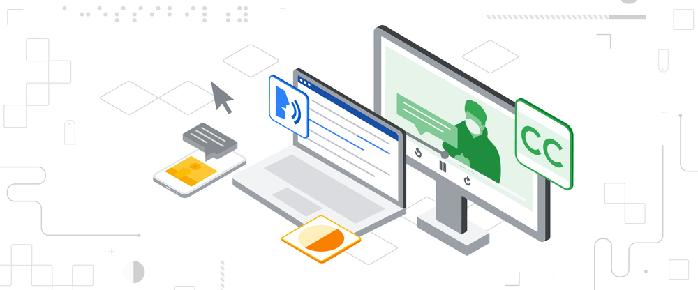 Visual graphic showing accessibility tools and Chromebooks