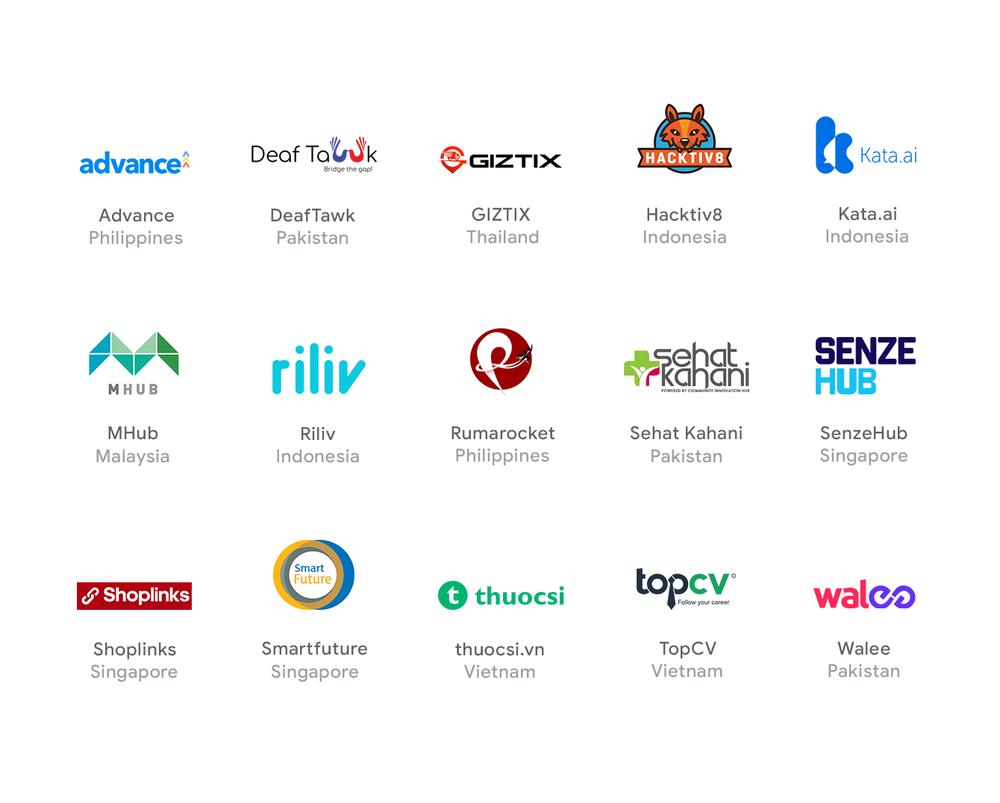 SEA Startup Accelerator cohort logos