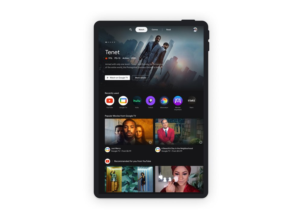 Entertainment Space Watch Tab