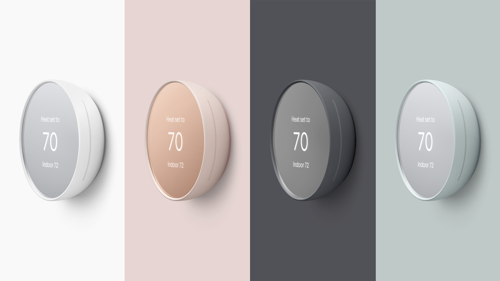 Nest Thermostat in four colors