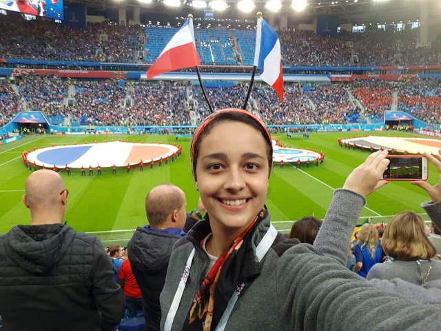Nada in the stands at the FIFA World Cup semi finals.