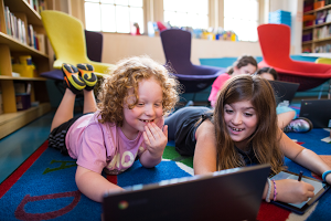 Students on Chromebooks and the Chrome OS tablet
