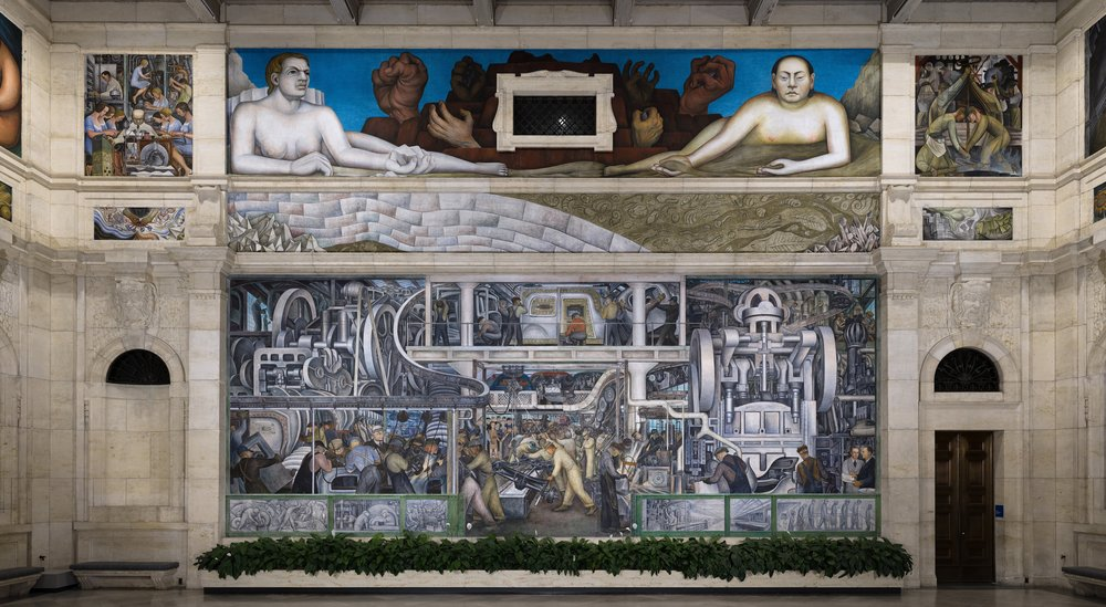 A mural painted by Diego Rivera