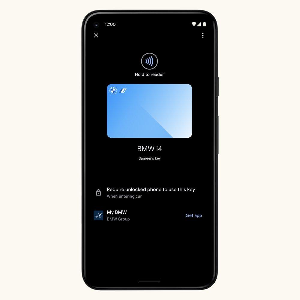 Digital car keys on Android 12, NFC-enabled phones.