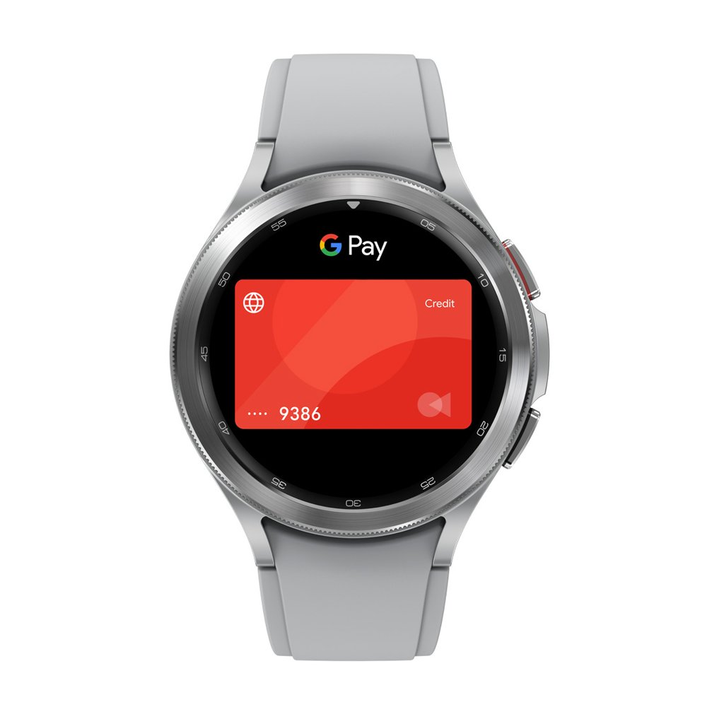 Watch showing Google Pay