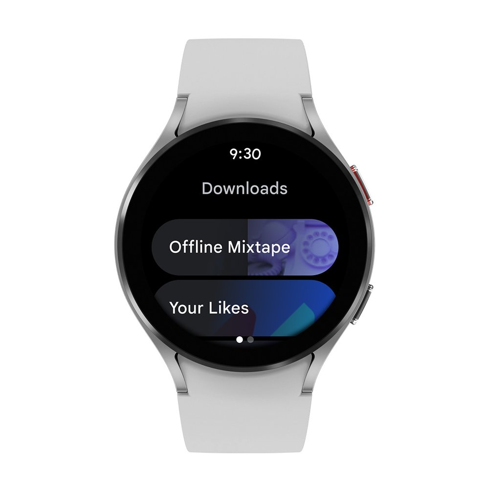 Watch showing YouTube Music app