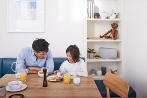 Google Home Max Parent and Child Kitchen