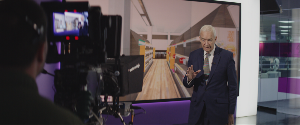 British journalist and television presenter Jon Snow in the introductory video