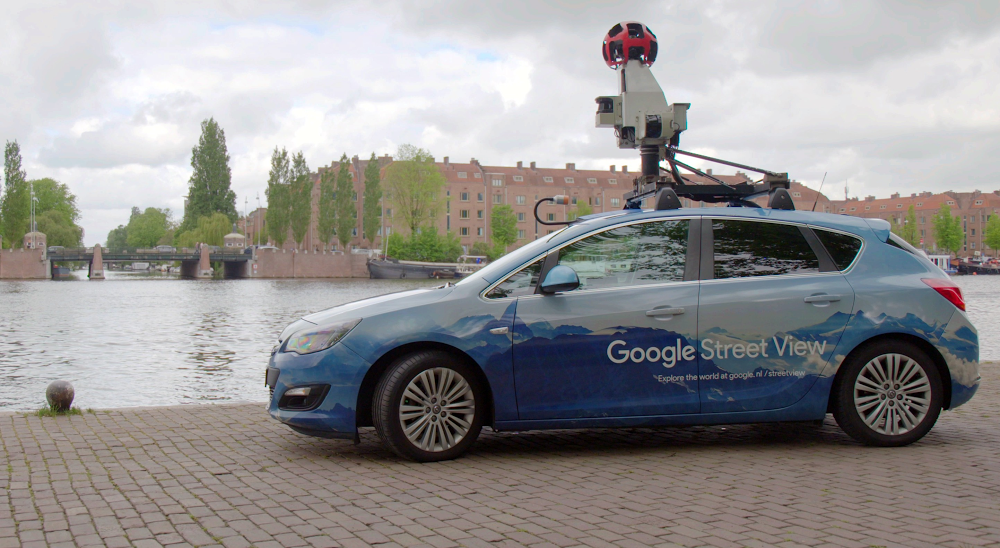 A Street View car in Amsterdam