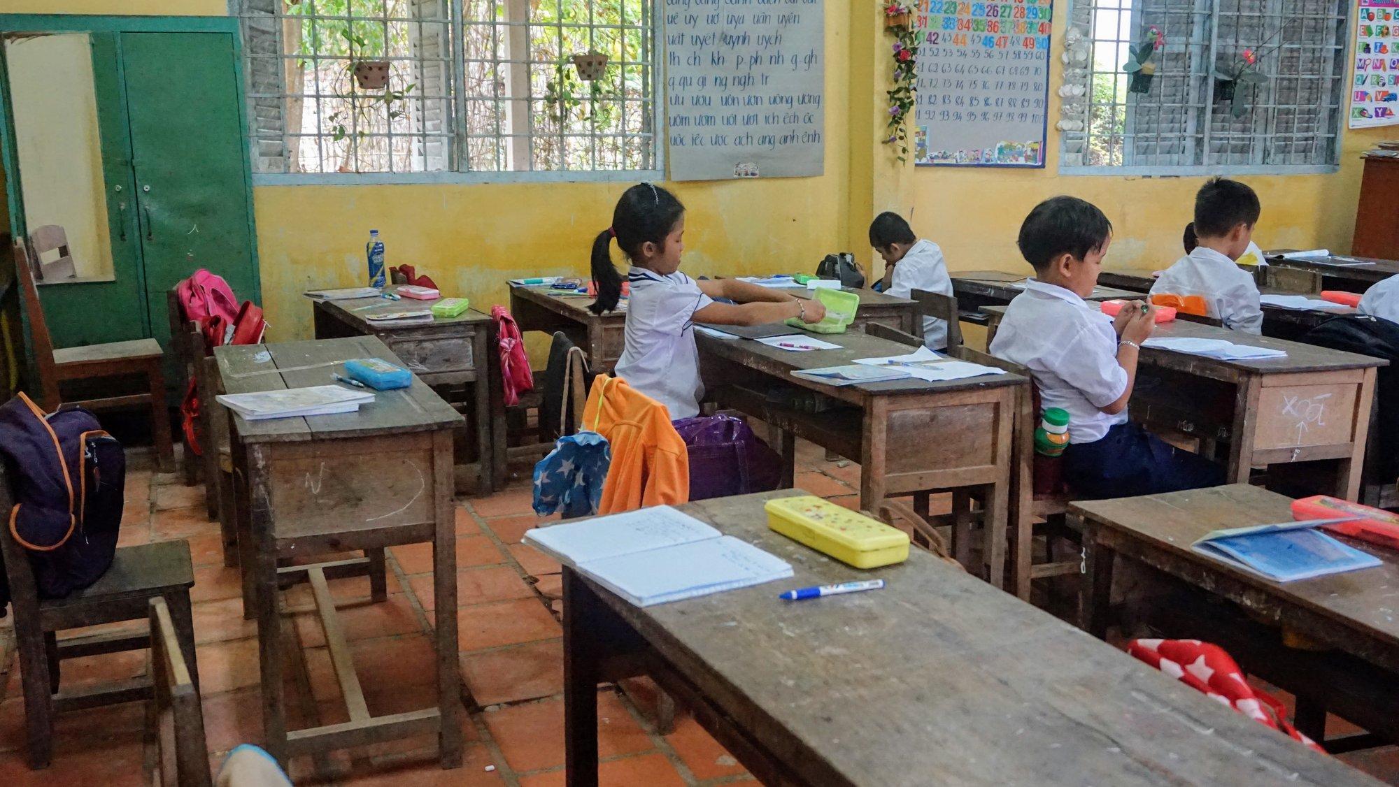 Classroom at Tập Ngãi C school