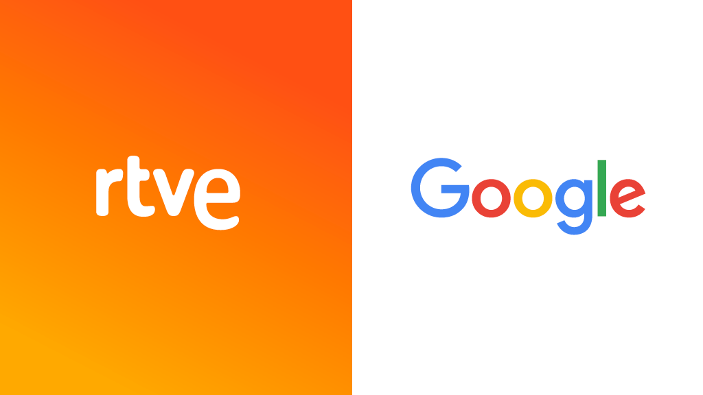 RTVE logo and Google logo