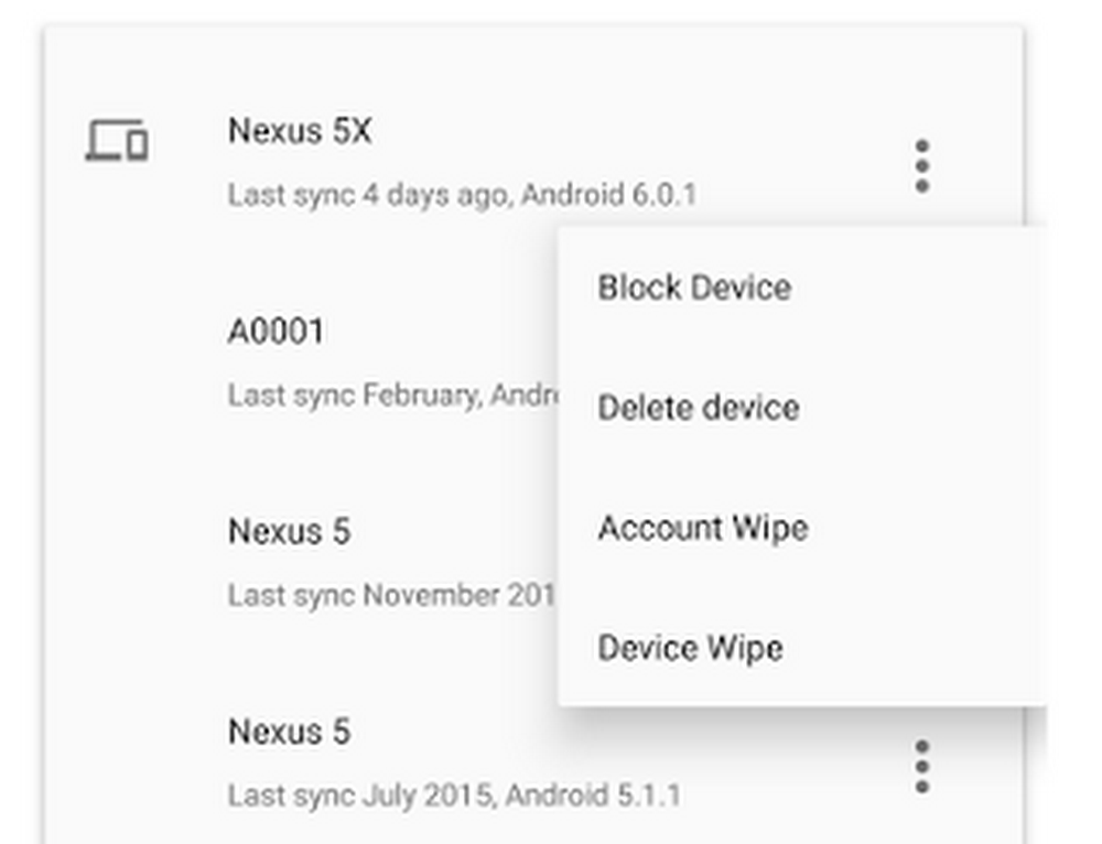 Android device info and management