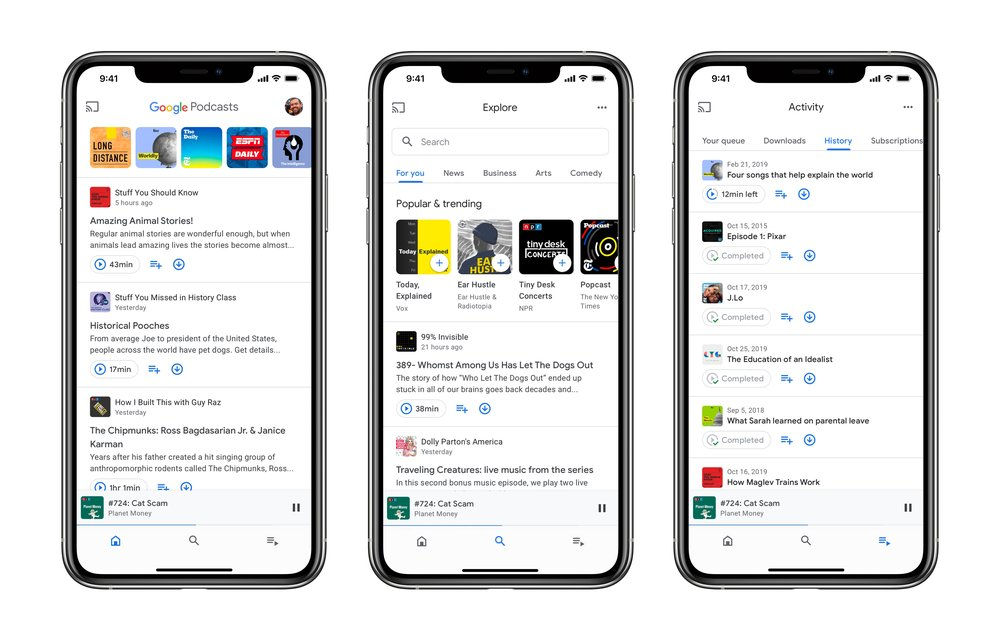 Discover podcasts you'll love with Google Podcasts, now on iOS