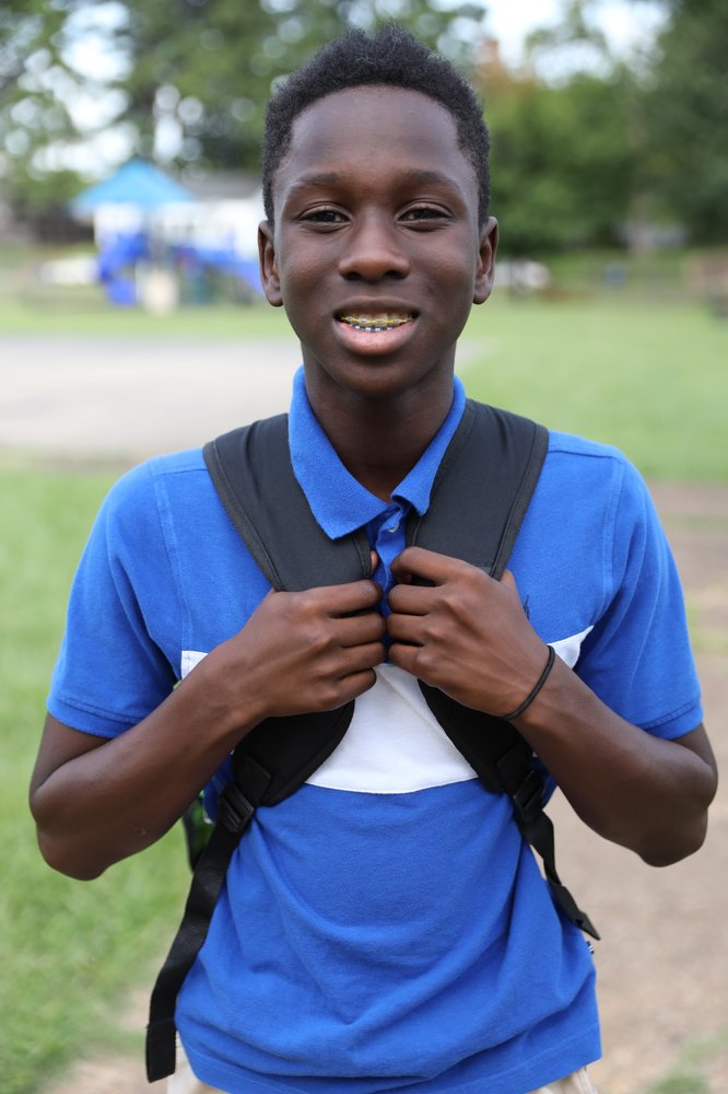 A photo of Jadon, one of the teenagers learning digital skills through his Boys and Girls Club location.