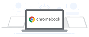 Illustration of Chromebook