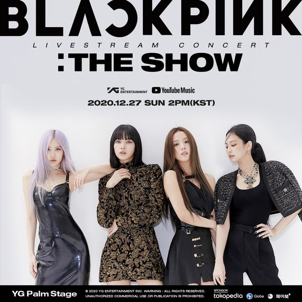 "BLACKPINK + YouTube Music anunciam ""THE SHOW"" primeiro show mundial ao vivo e online da história"