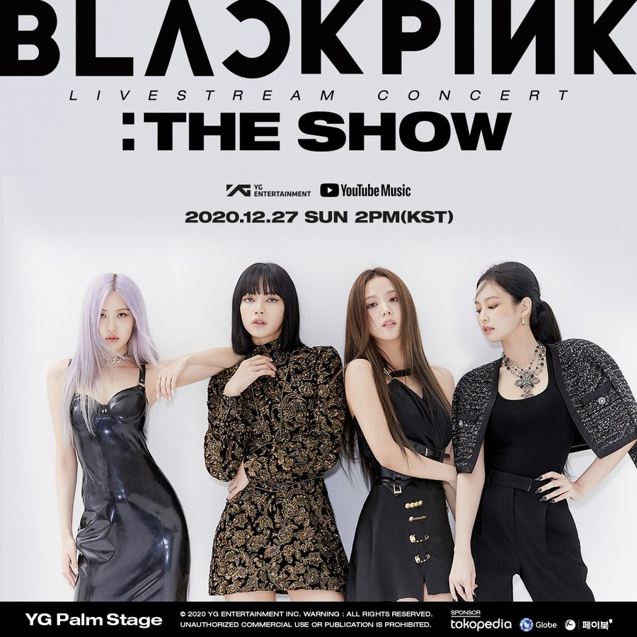 BLACKPINK + YouTube Music announce first-ever global livestream concert experience, THE SHOW