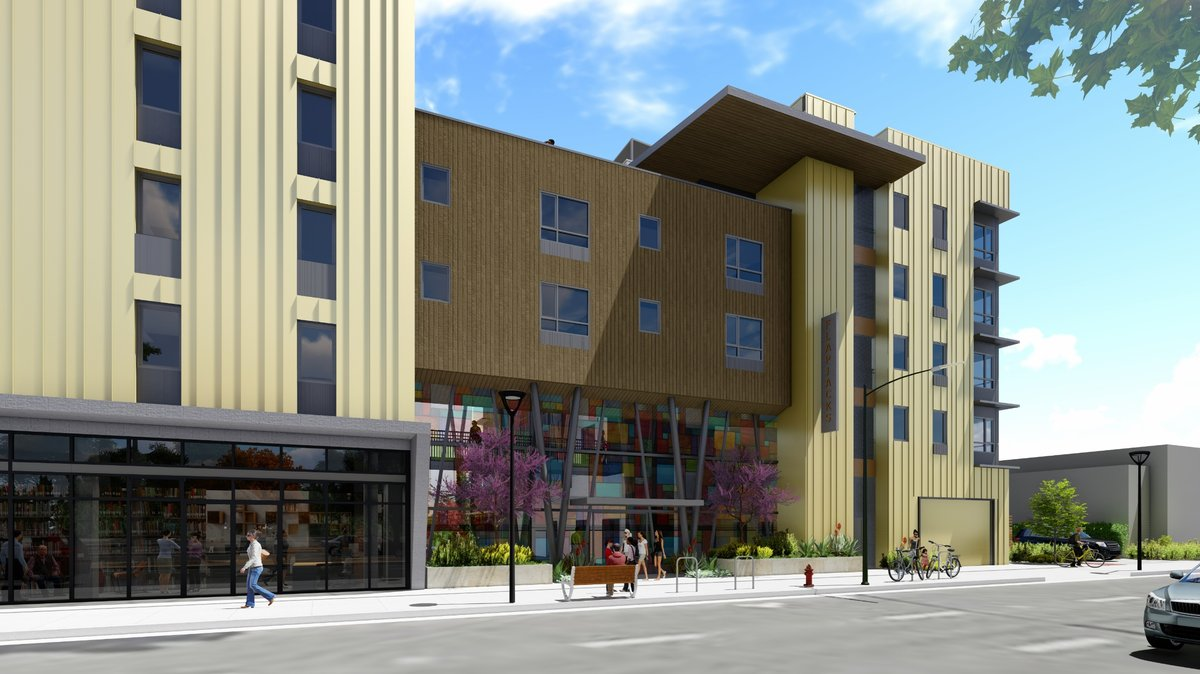 Rendering of housing development