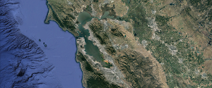 Bay Area on Google Earth