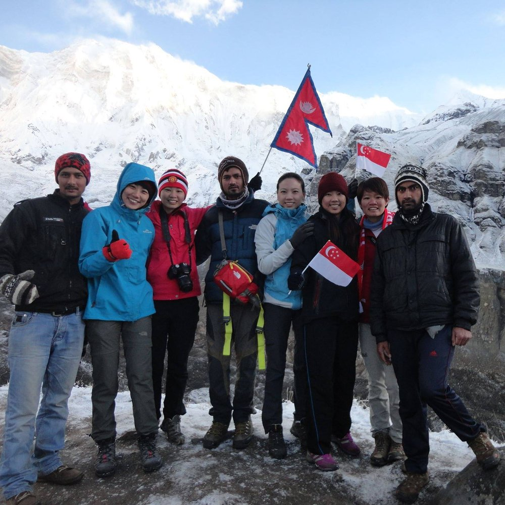 Imperial Nepal Treks leads a group to the Annapurna base camp