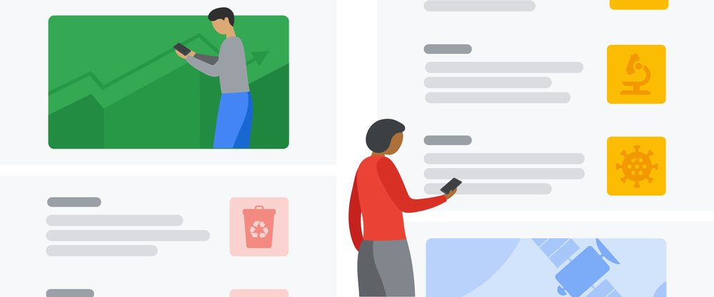 Article's hero media. Google News Showcase users staying caught up on the latest news and headlines from publisher partners on their mobile devices