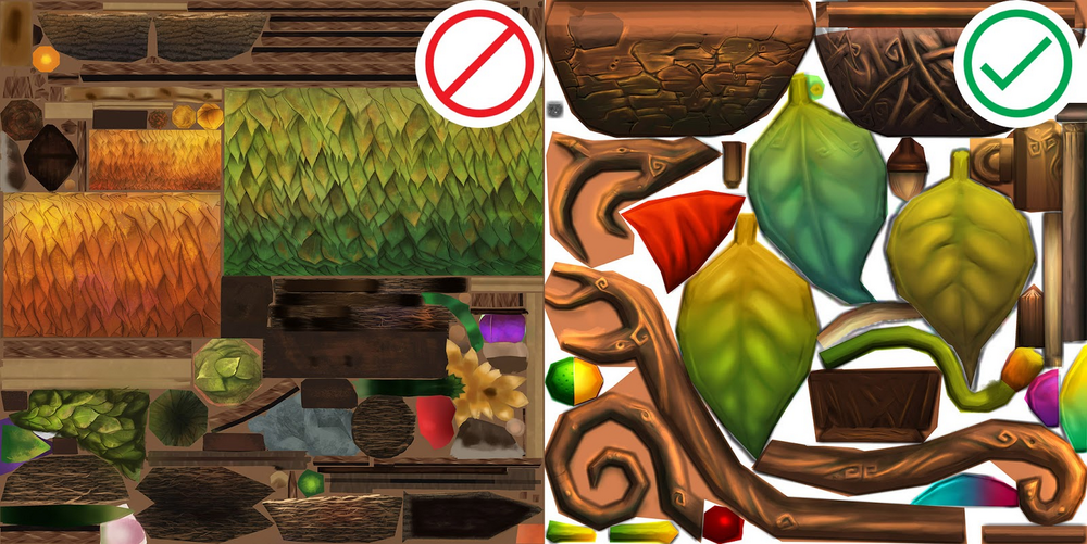 An assortment of natural textures: leaves, grass, and wood.