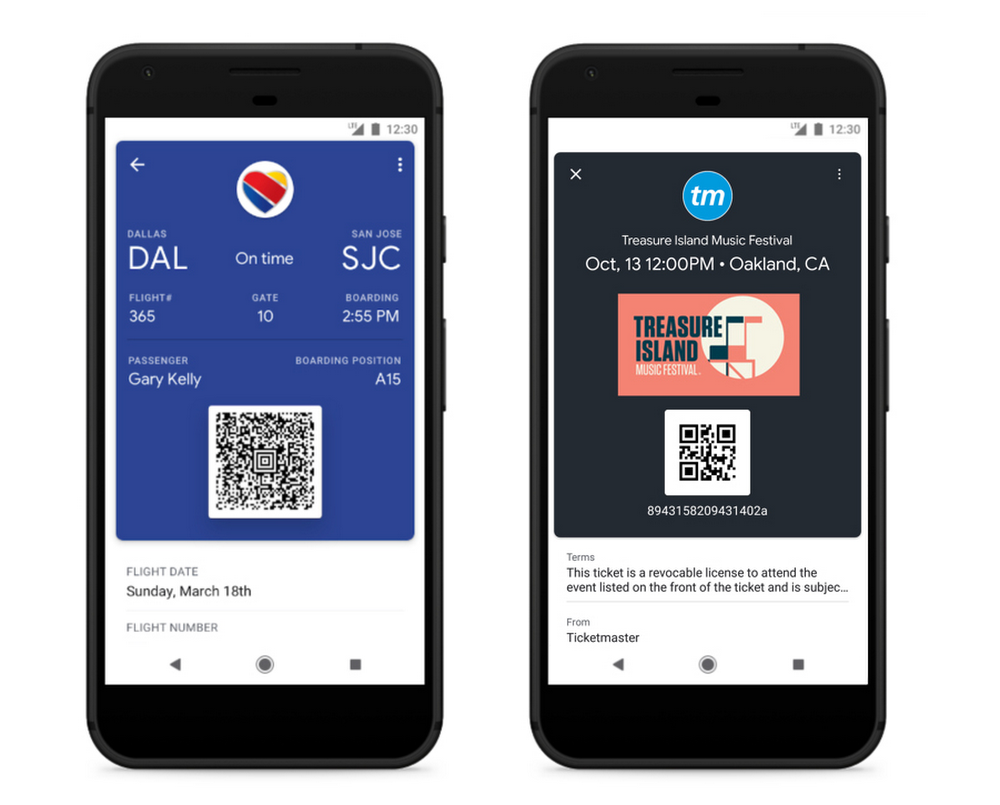 Google Pay – Boarding Passes & Tickets