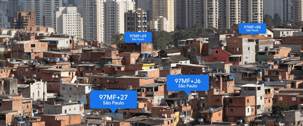 Plus Codes in Sao Paolo, Brazil