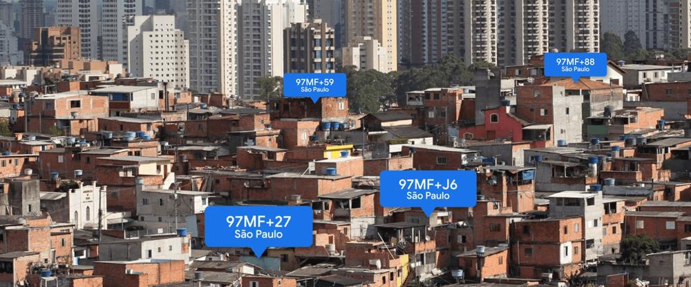 Plus Codes in Sao Paolo, Brazil