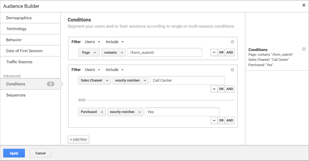 Build a custom audience in Analytics 360 that you can then share to Google Ads or Display & Video 360.