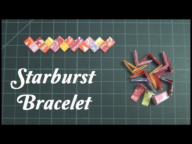 ☼ How To Fold Starburst Wrappers for Jewelry ☼