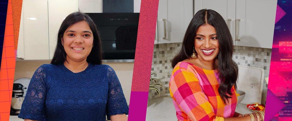 Hetal Vasavada (founder of Milk & Cardamom) and Neha Mathur (founder of Whisk Affair)