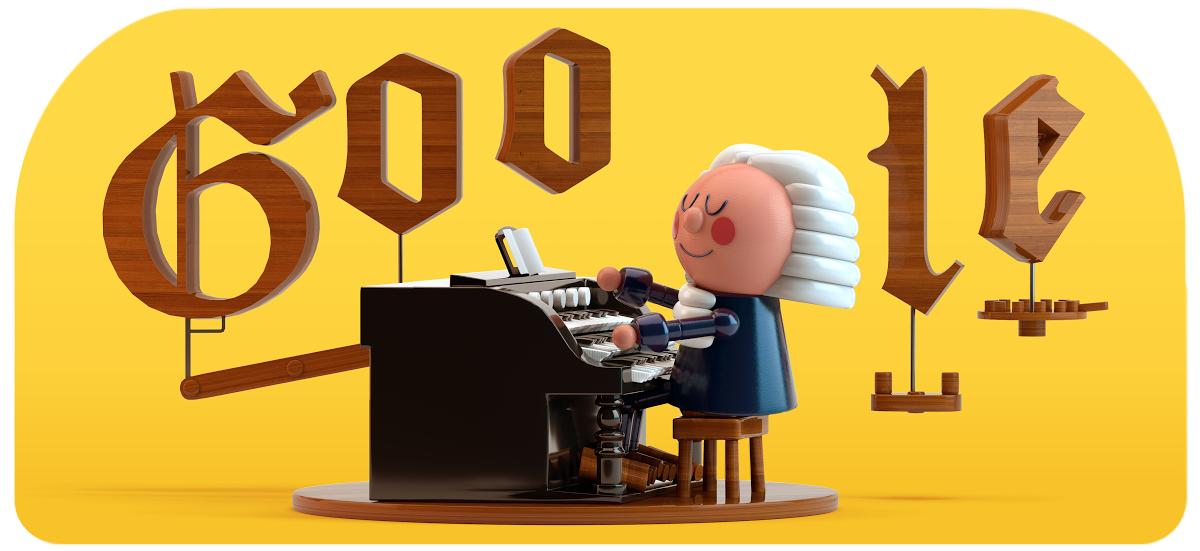 The J.S. Bach Google Doodle.