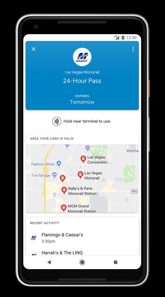 Google Pay's got your transit ticket, starting in Las Vegas