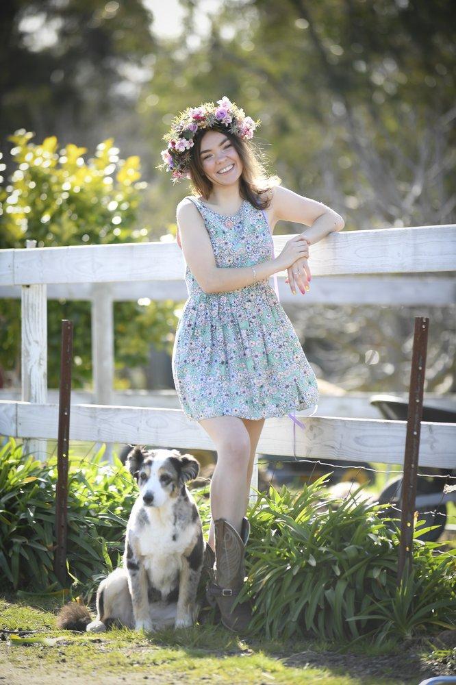 Australian YouTube creator Chloe Hayden wearing her signature flower crown