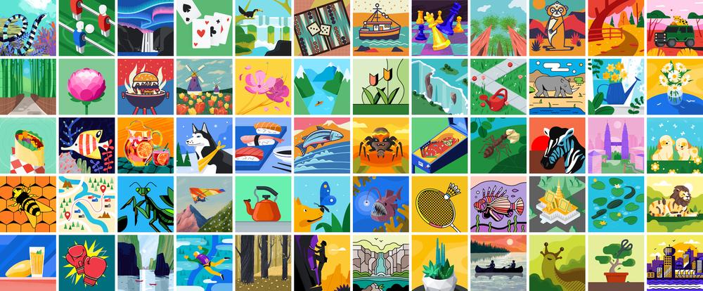 Hundreds of customizable illustrations