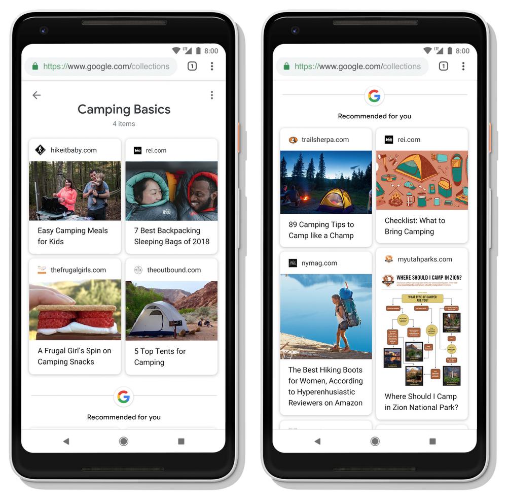 Google va venir apporter des suggestions pour aider les personnes à progresser sur leur parcours