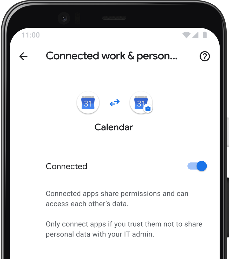 Connected calendar
