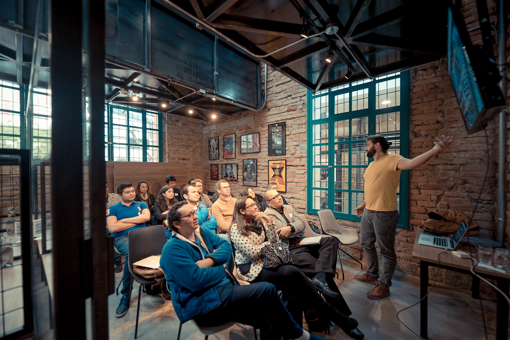 Founders take part in a workshop during IMPAQTO Labs' program.