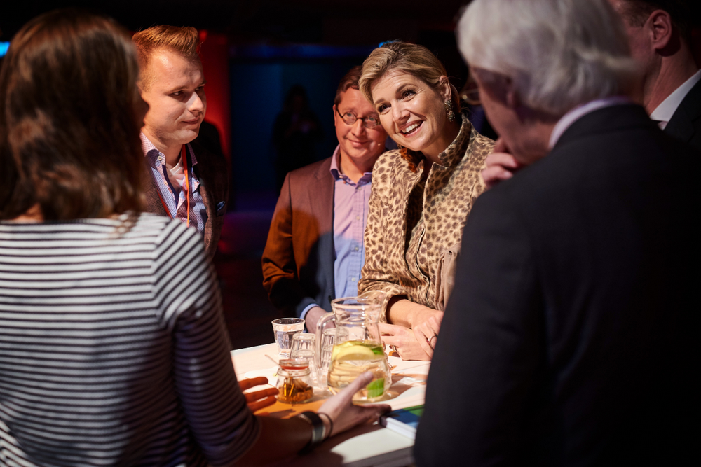 Queen Maxima and entrepreneurs