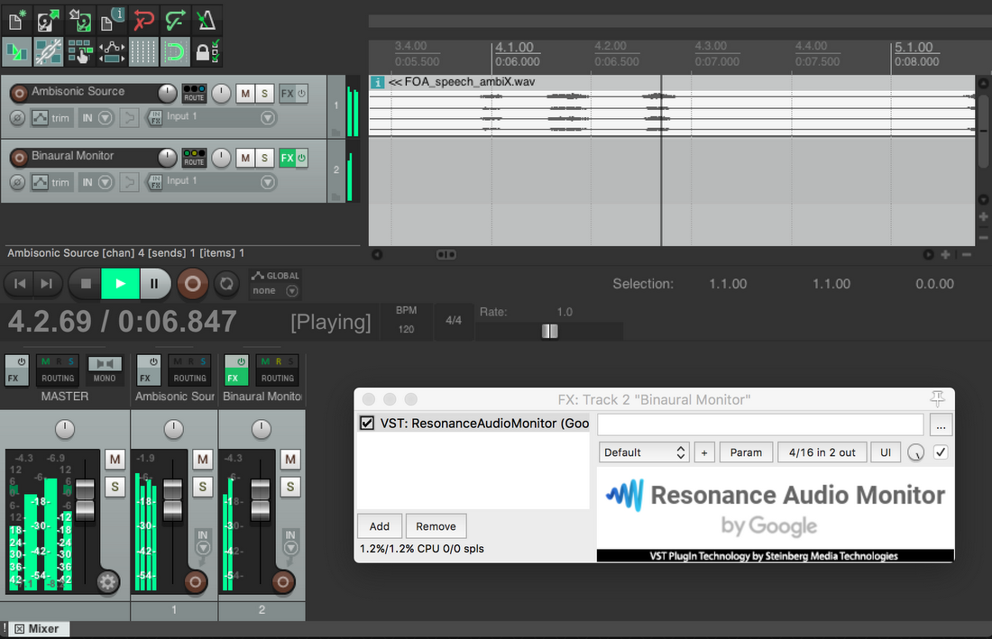 Resonance Audio: Multi-platform spatial audio at scale
