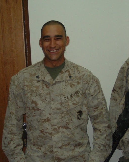 Jesus in a Marine Corps uniform.