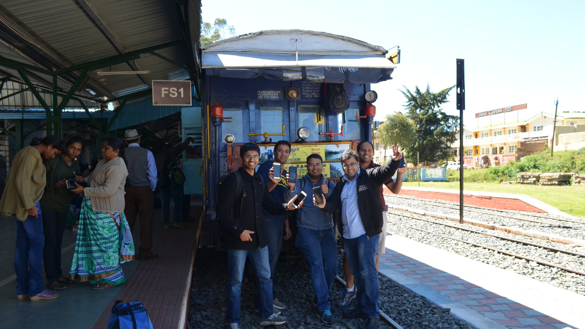 The team at Ooty station today