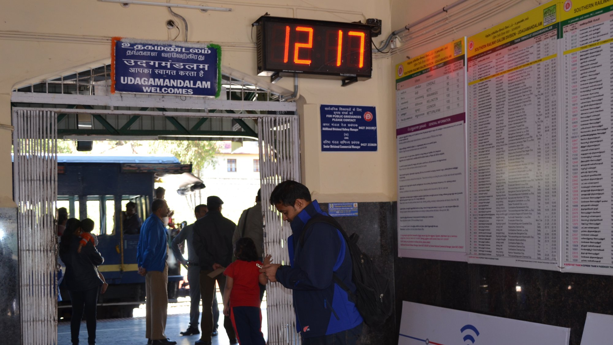 Ooty station welcomes Railwire WiFi