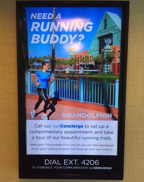 Disney Swan and Dolphin digital signage