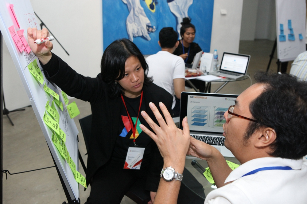 Dr. Eunice Sari at Launchpad Week in Jakarta